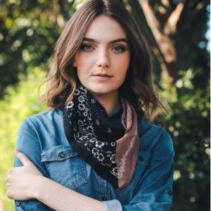 Accessories - Two-toned Western Bandanna Scarf